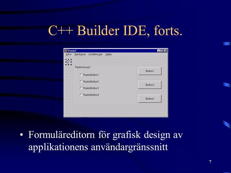 8 C++ Builder IDE, forts.