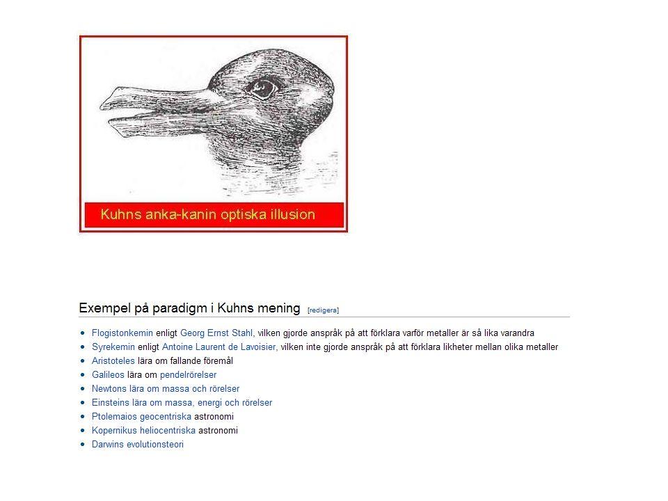 vetenskaplig revolution paradigm - teoretiskt ramverk - mönstergillt exempel paradigmskifte ( glasögonbyte ) inkommensurabilitet