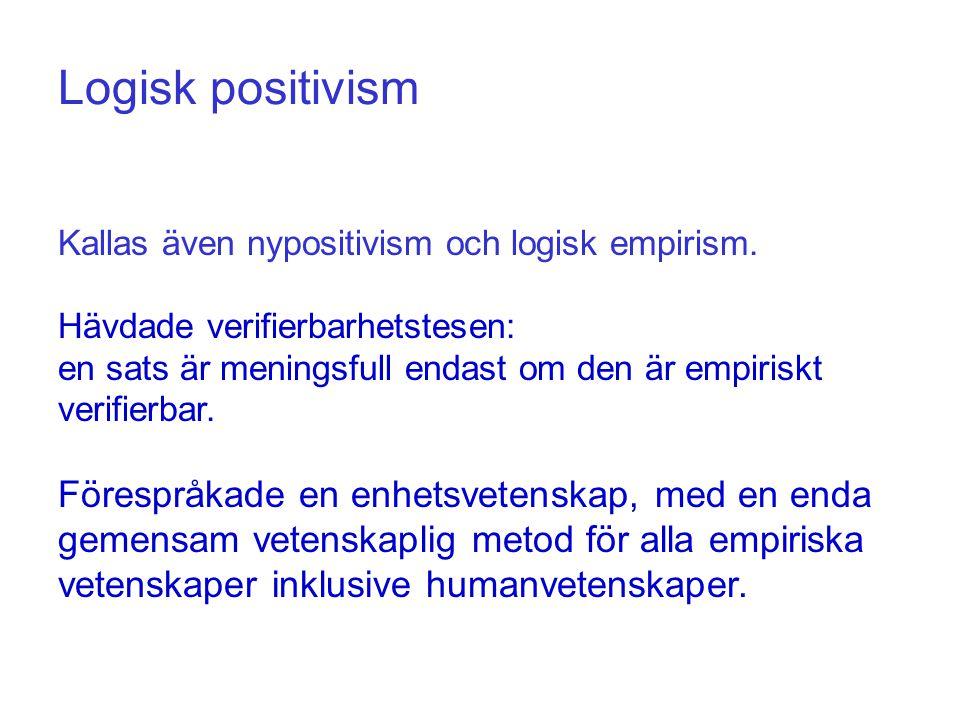 Termen positivism står allmänt för framtidsoptimism, tro på säker kunskap via empirisk vetenskap, samt på åsikten att naturvetenskapliga metoder kan och bör tillämpas på humanvetenskaper.