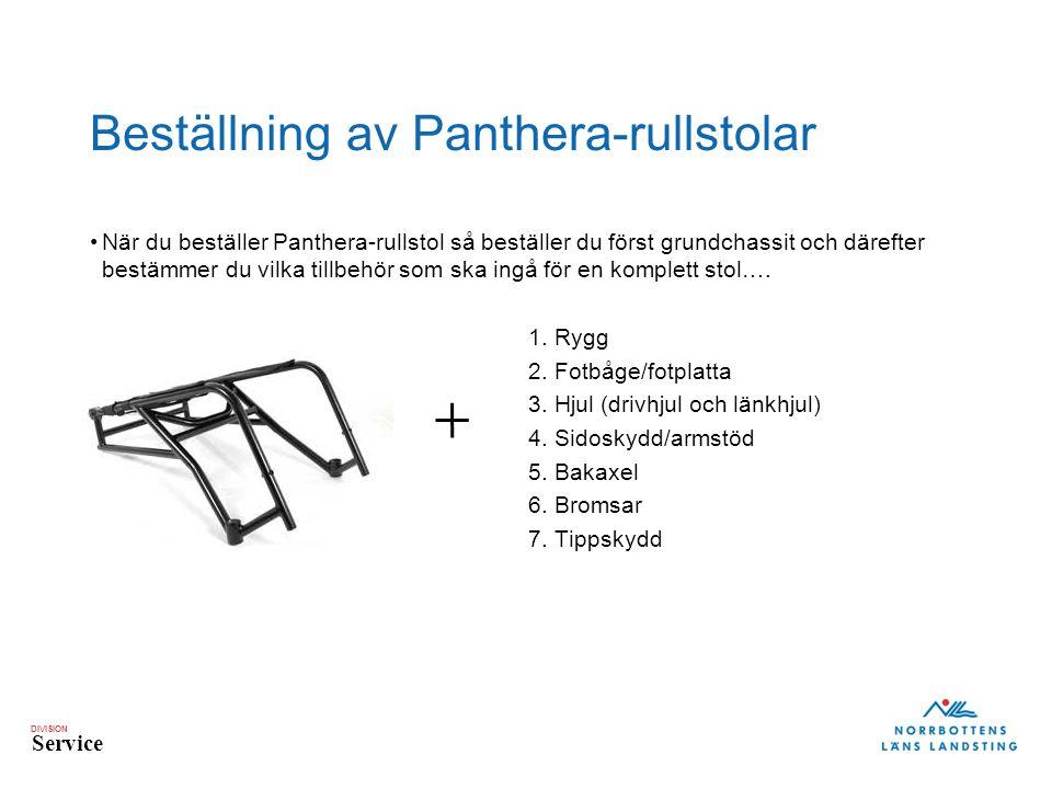DIVISION Service Beställning av Panthera-rullstolar När du beställer Panthera-rullstol så beställer du först grundchassit och därefter bestämmer du vilka tillbehör som ska ingå för en komplett stol….