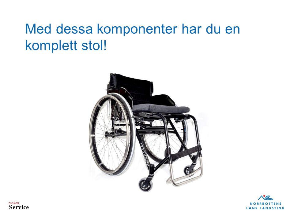 DIVISION Service Med dessa komponenter har du en komplett stol!