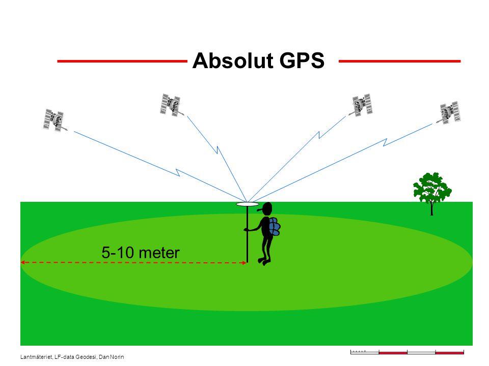 Lantmäteriet, LF-data Geodesi, Dan Norin Absolut GPS 5-10 meter