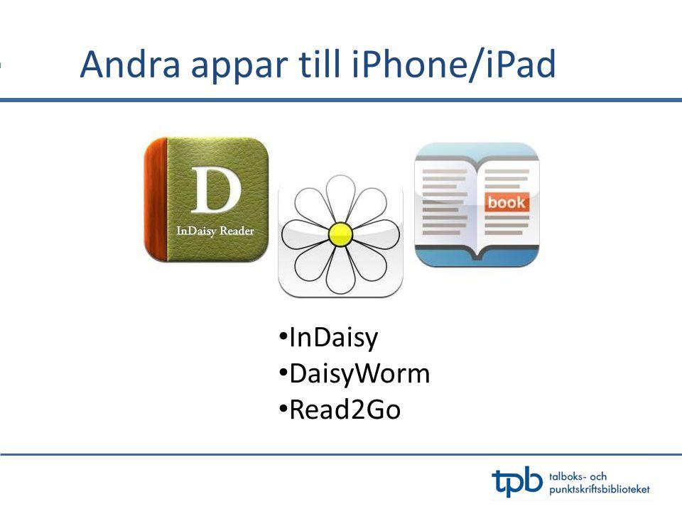 Andra appar till iPhone/iPad InDaisy DaisyWorm Read2Go