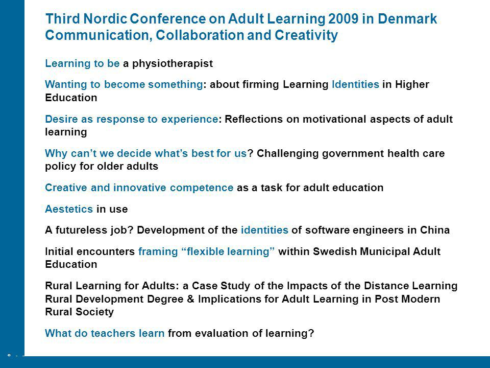 ÅA/Ped.inst. Learning to be a physiotherapist Wanting to become something: about firming Learning Identities in Higher Education Desire as response to