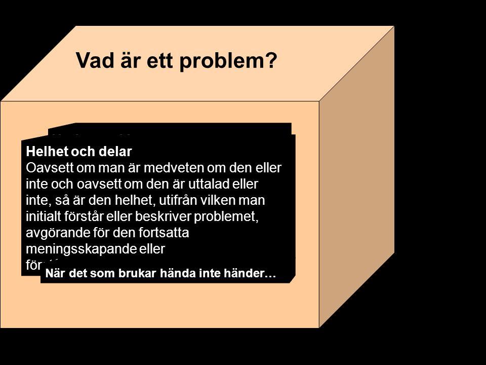 Lärområde Vardags- problem Angeläget.Varför. Koppling till uppdraget.
