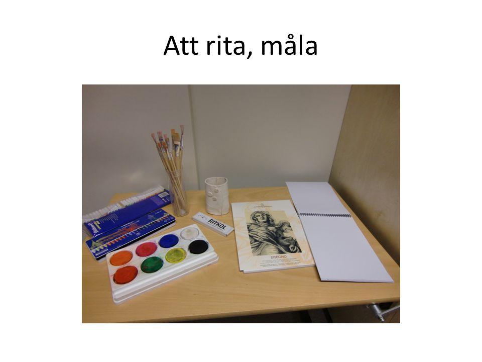 Att rita, måla