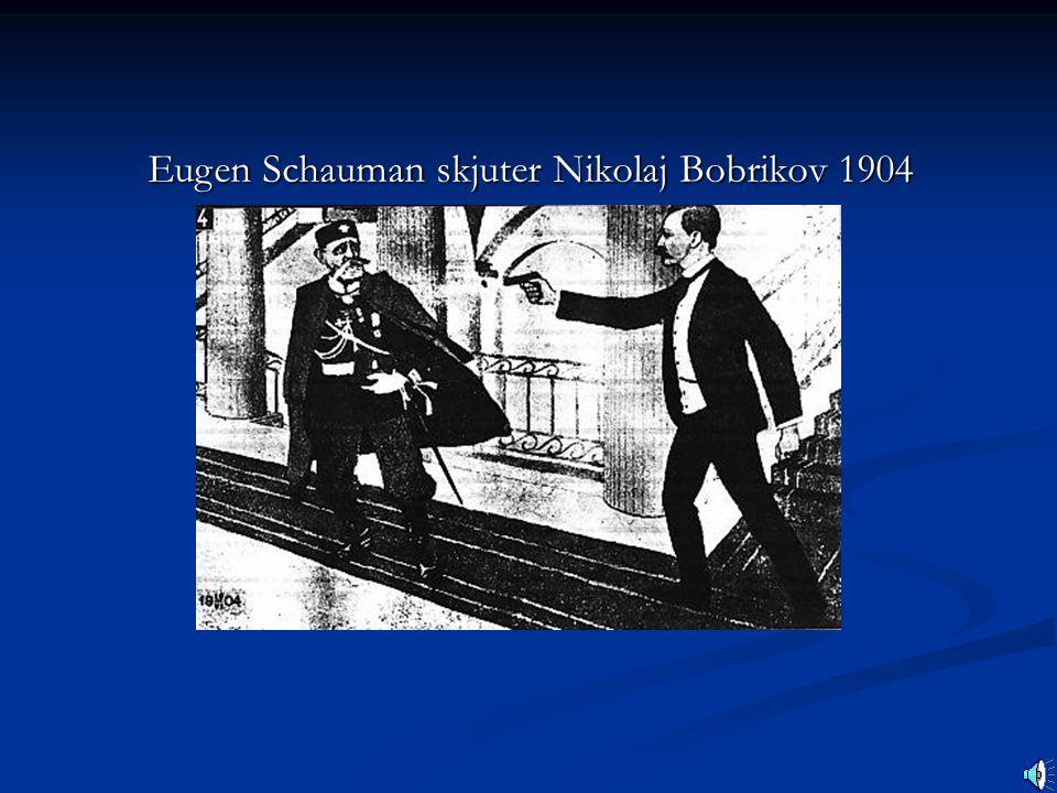 Eugen Schauman skjuter Nikolaj Bobrikov 1904