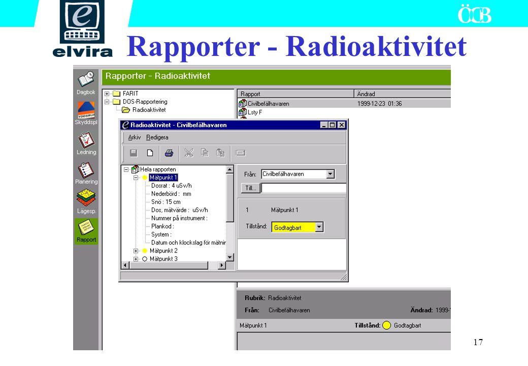 17 Rapporter - Radioaktivitet