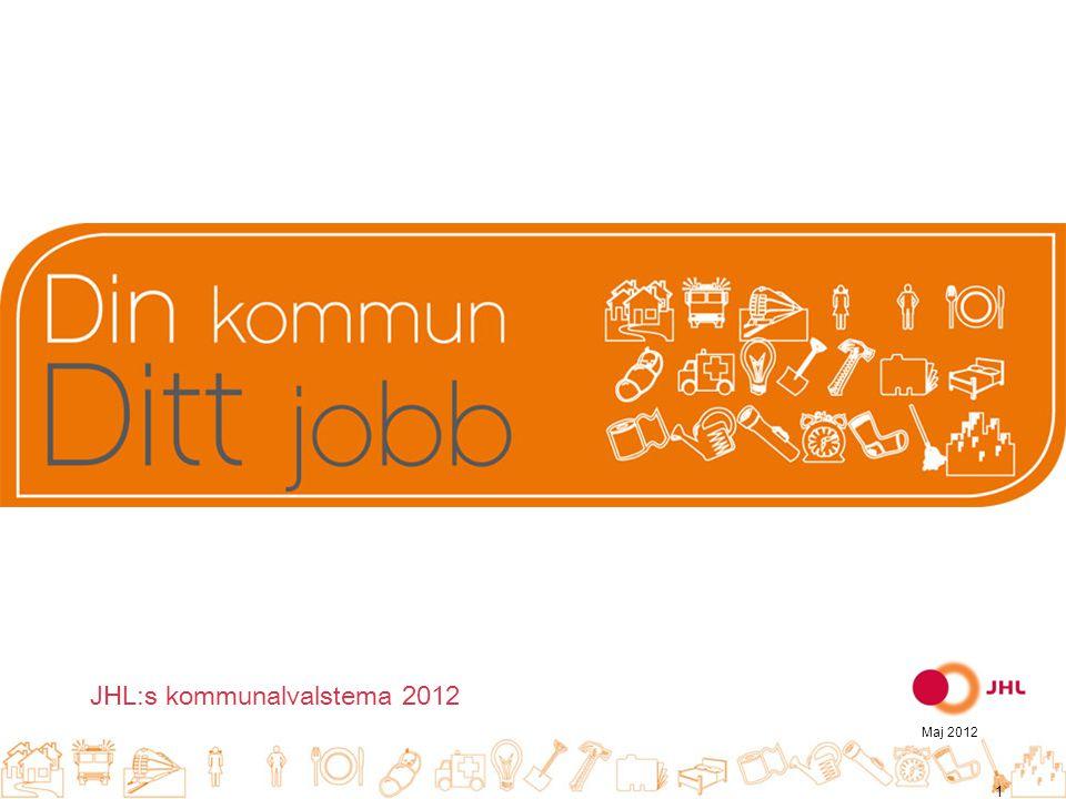JHL:s kommunalvalstema 2012 Maj 2012 1