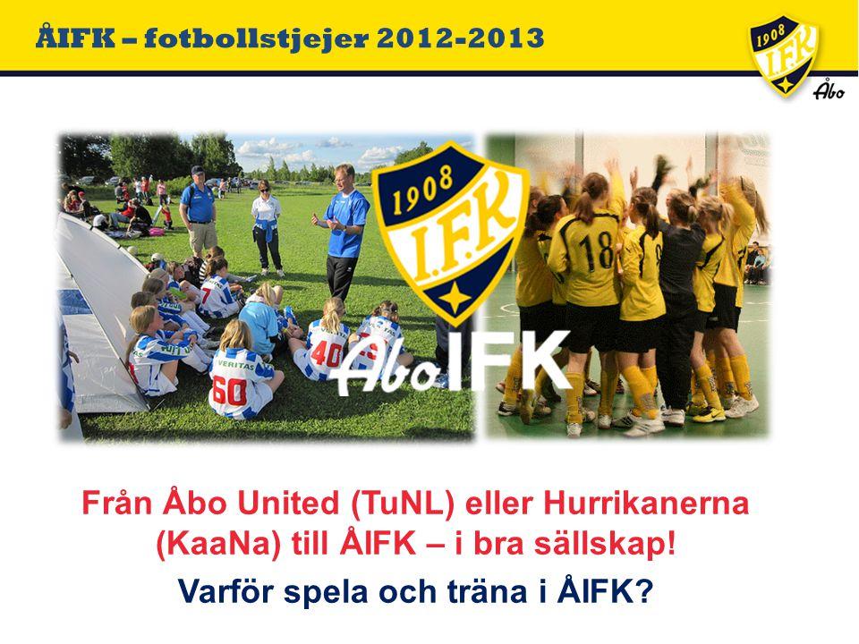 ÅIFK – fotbollstjejer 2012-2013 Från Åbo United (TuNL) eller Hurrikanerna (KaaNa) till ÅIFK – i bra sällskap.