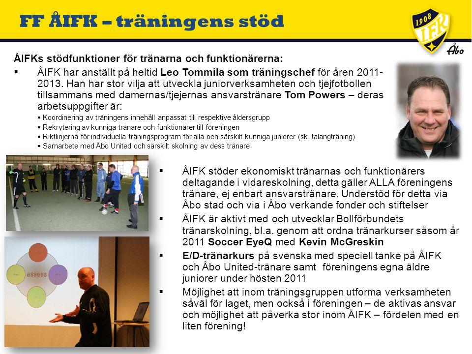  ALLA ansvarstränare får kostnadsersättningar enligt avtal med FF ÅIFK, även i de yngsta lagen.