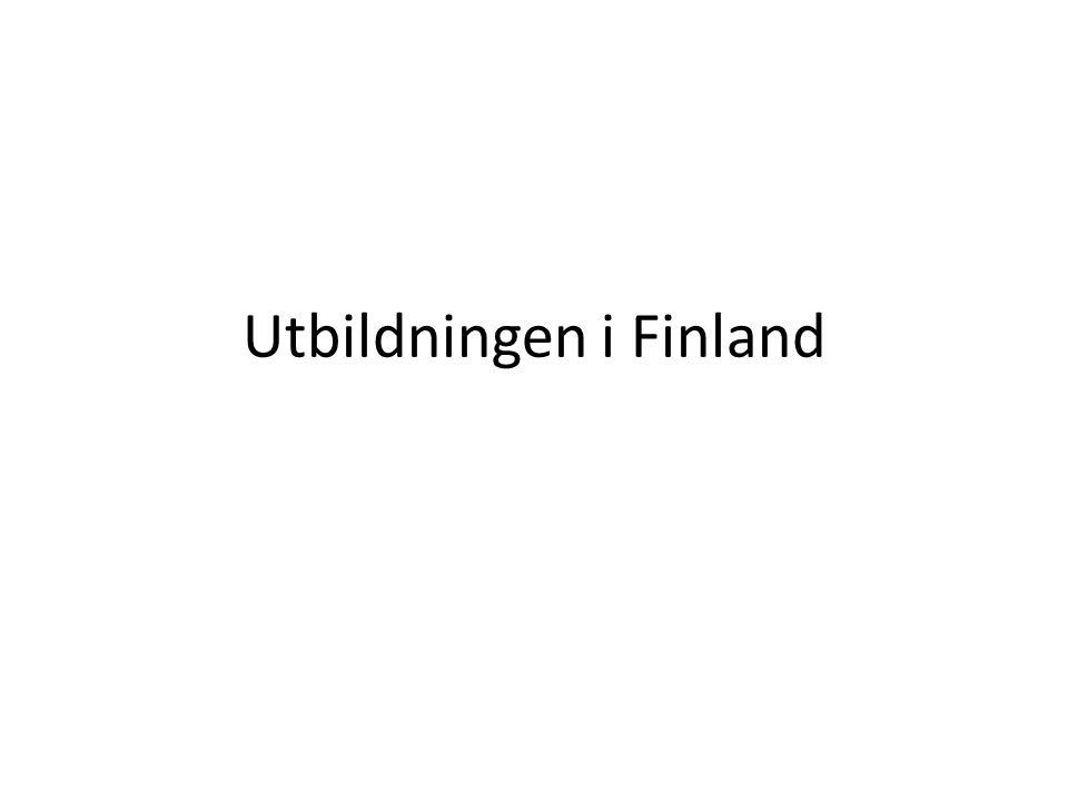 Utbildningen i Finland