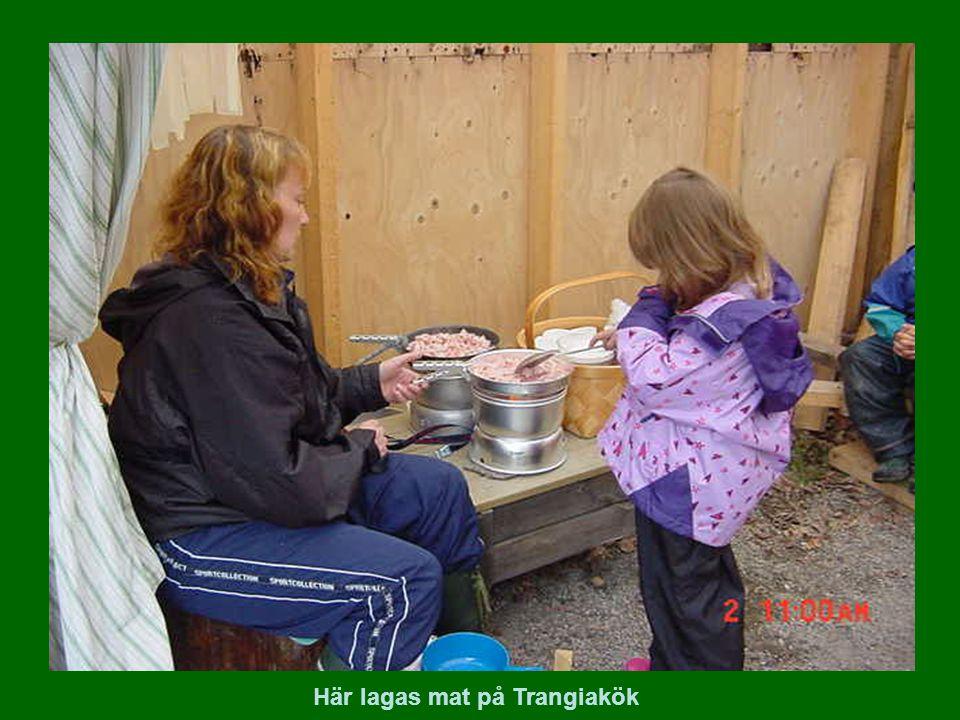 Här lagas mat på Trangiakök