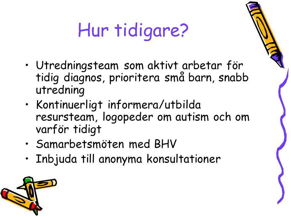 Diagnostiska Instrument Autism Diagnostic Interview - Revised, –Rutter, Le Couter, Lord Autism Diagnostic Observation Schedule –Lord, Rutter, DiLavore, Risi