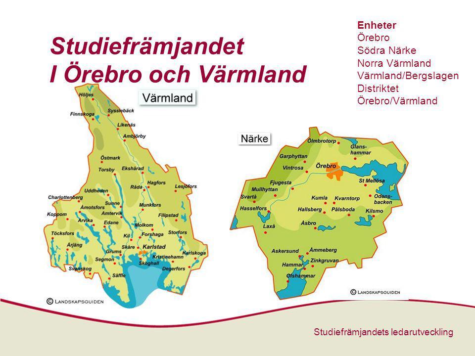 Studiefrämjandets ledarutveckling Studiefrämjandet I Örebro och Värmland Zoom In M Enheter Örebro Södra Närke Norra Värmland Värmland/Bergslagen Distriktet Örebro/Värmland