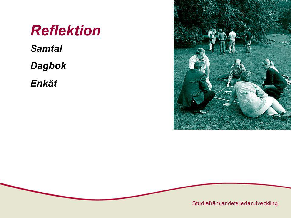 Studiefrämjandets ledarutveckling Reflektion Samtal Dagbok Enkät