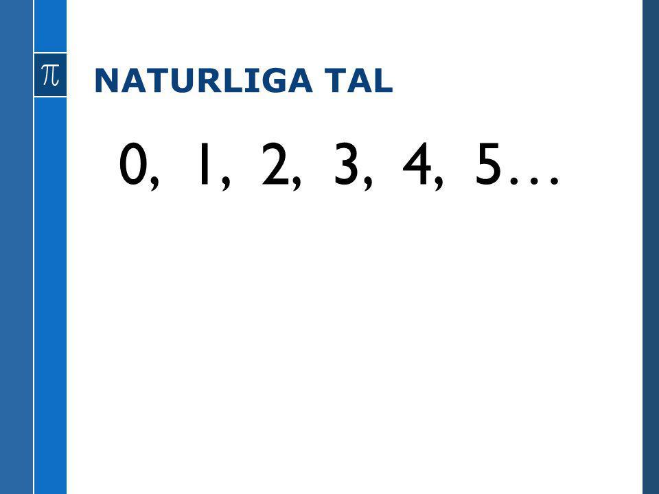 NATURLIGA TAL 0, 1, 2, 3, 4, 5…