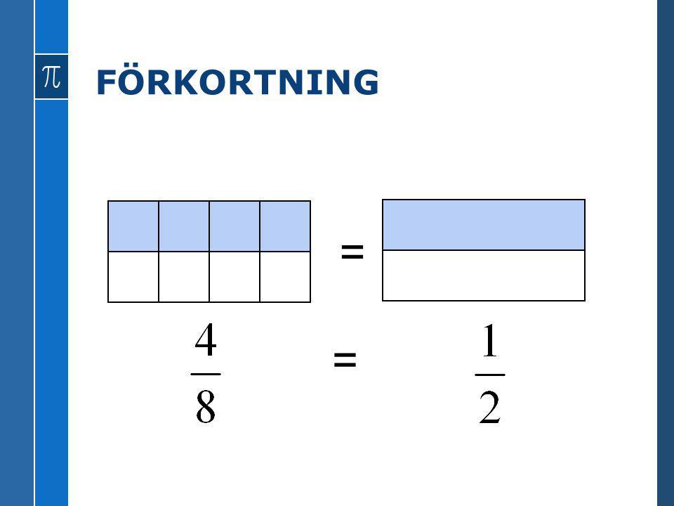 FÖRKORTNING = =
