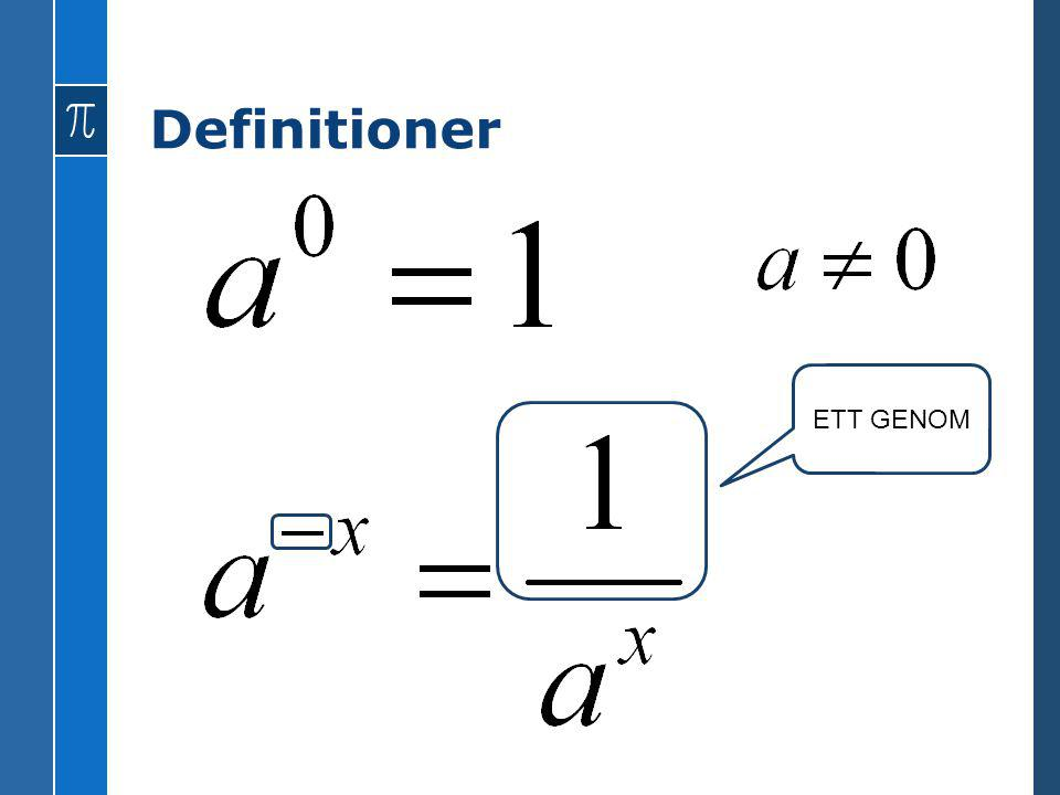 Definitioner ETT GENOM