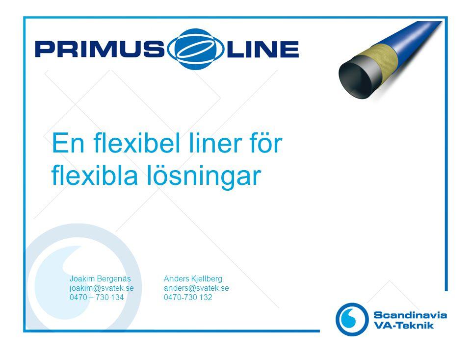 En flexibel liner för flexibla lösningar Joakim BergenäsAnders Kjellberg joakim@svatek.seanders@svatek.se 0470 – 730 1340470-730 132