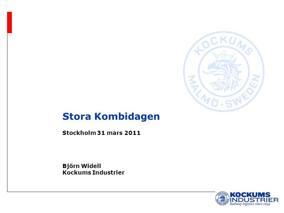 Stora Kombidagen Stockholm 31 mars 2011 Björn Widell Kockums Industrier