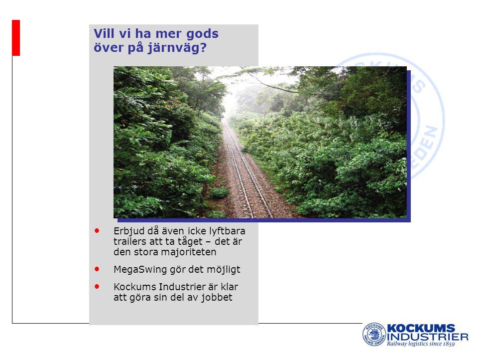 Vill vi ha mer gods över på järnväg? Erbjud då även icke lyftbara trailers att ta tåget – det är den stora majoriteten MegaSwing gör det möjligt Kocku