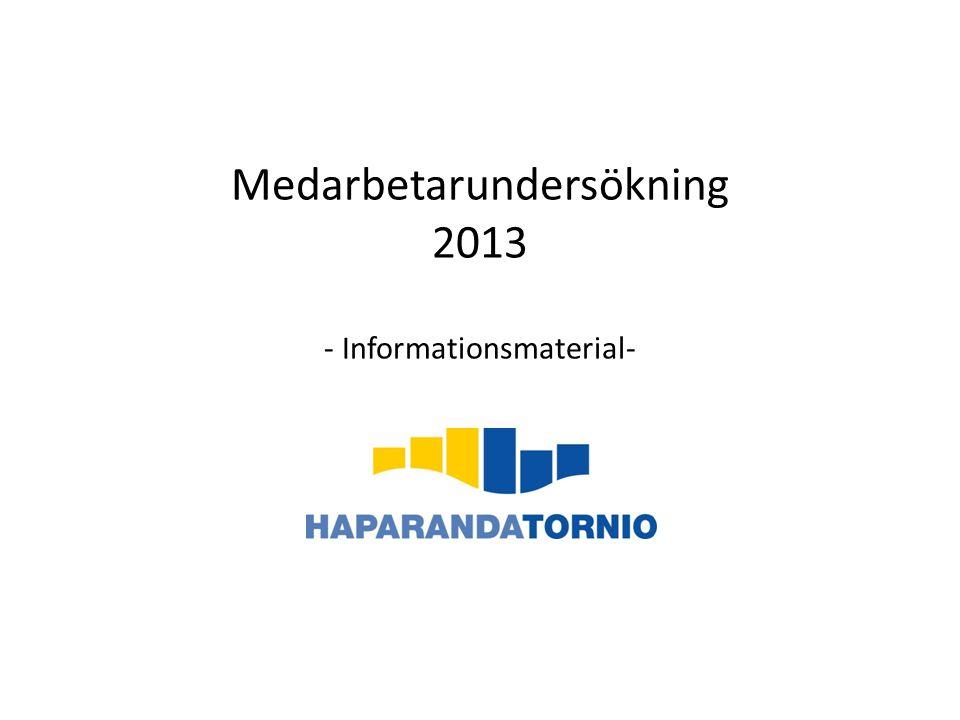 Medarbetarundersökning 2013 - Informationsmaterial-
