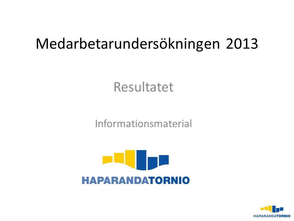 Medarbetarundersökningen 2013 Resultatet Informationsmaterial
