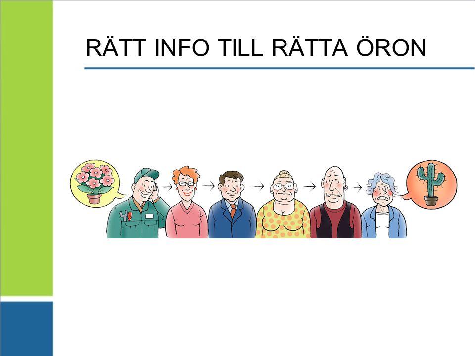 RÄTT INFO TILL RÄTTA ÖRON