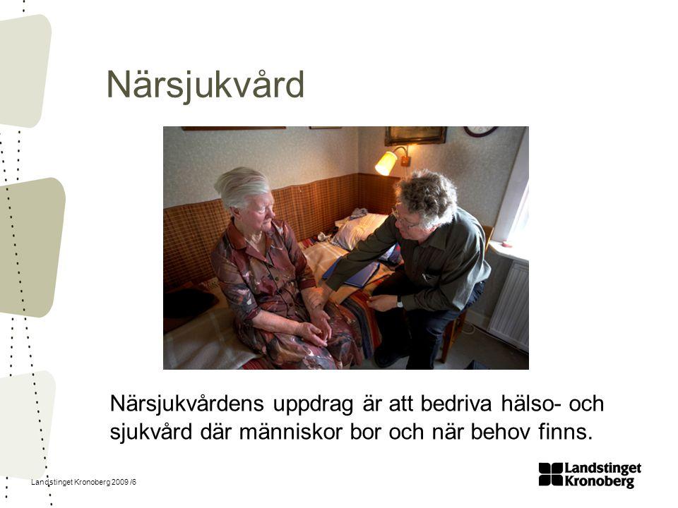 Landstinget Kronoberg 2009 /7 Länssjukvård Vid Centrallasarettet Växjö och Lasarettet Ljungby erbjuder vi ett kvalificerat omhändertagande inom de flesta specialiteter.