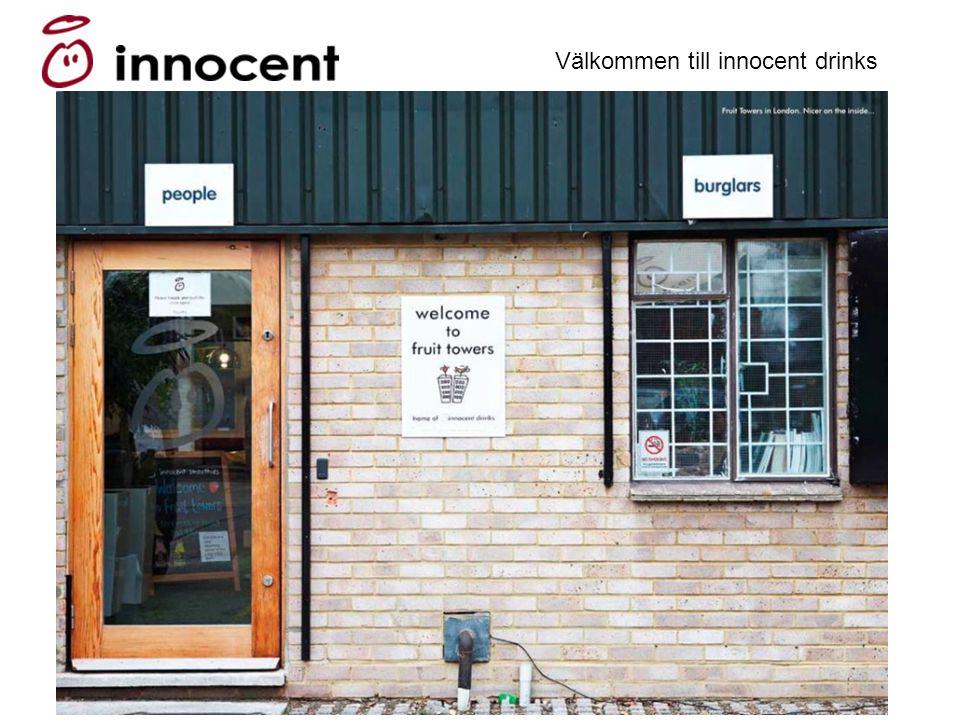 Att bygga ett varumärke med själ och hjärta Viktor Sylvan Välkommen till innocent drinks