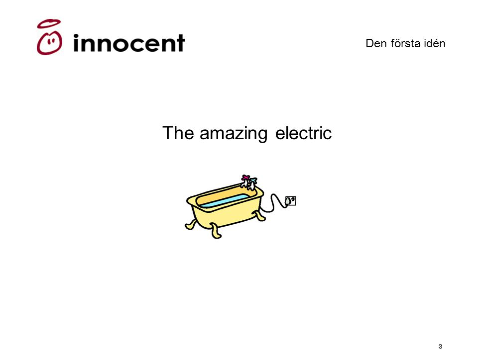 33 Den första idén The amazing electric bath