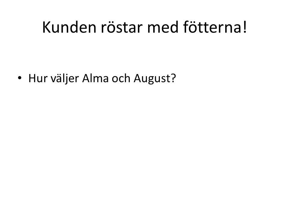 Kunden röstar med fötterna! Hur väljer Alma och August?