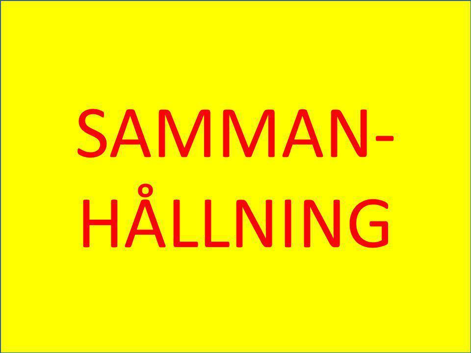 SAMMAN- HÅLLNING