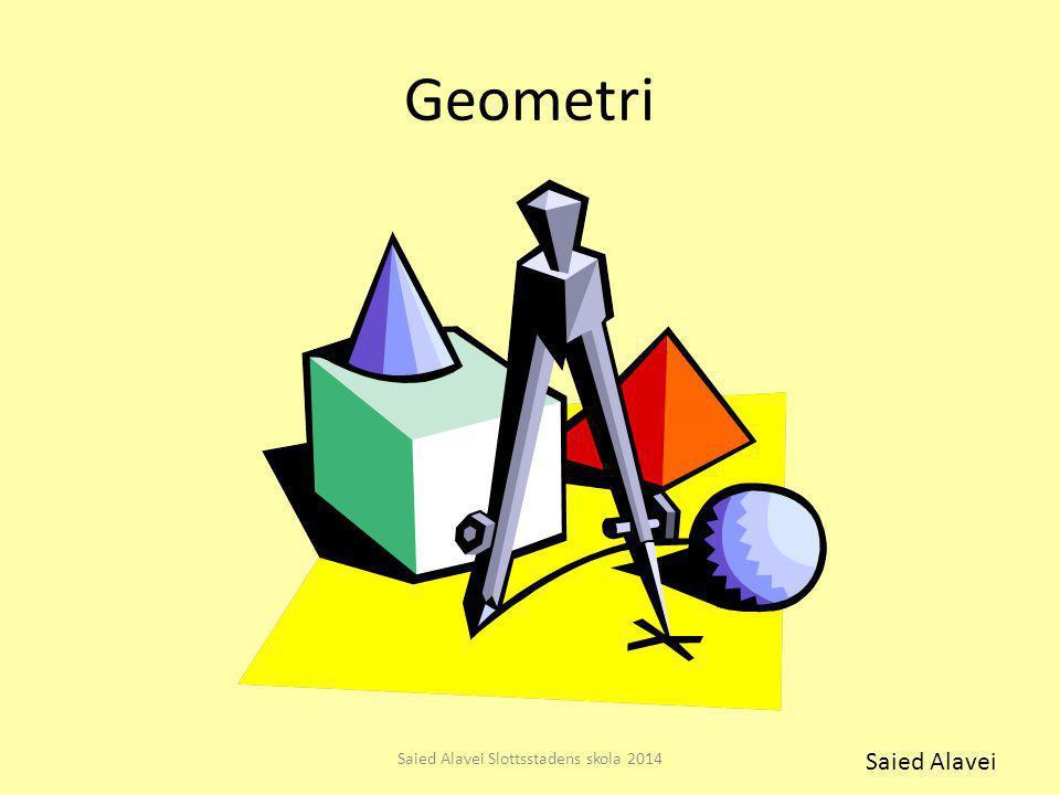 Geometri Saied Alavei Slottsstadens skola 2014 Saied Alavei