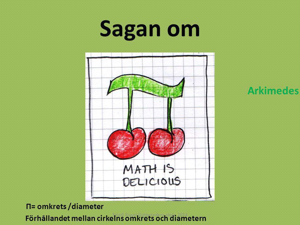 Sagan om Saied Alavei Slottsstadens skola 2014 Förhållandet mellan cirkelns omkrets och diametern Π= omkrets /diameter Arkimedes