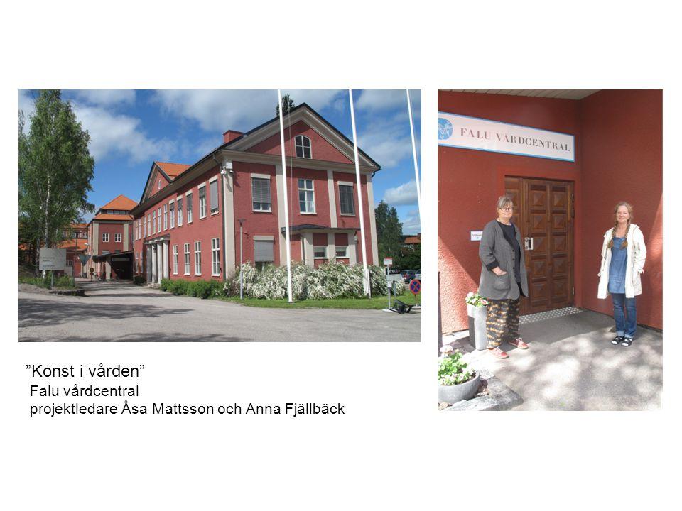 """""""Konst i vården"""" Falu vårdcentral projektledare Åsa Mattsson och Anna Fjällbäck"""
