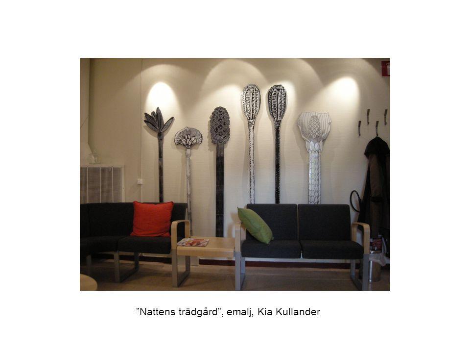 """""""Nattens trädgård"""", emalj, Kia Kullander"""