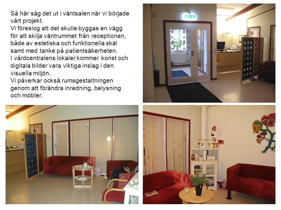 I det inre väntrummet placerar vi en digital bildskärm där Dalarnas Museum visar delar av sitt bildarkiv.