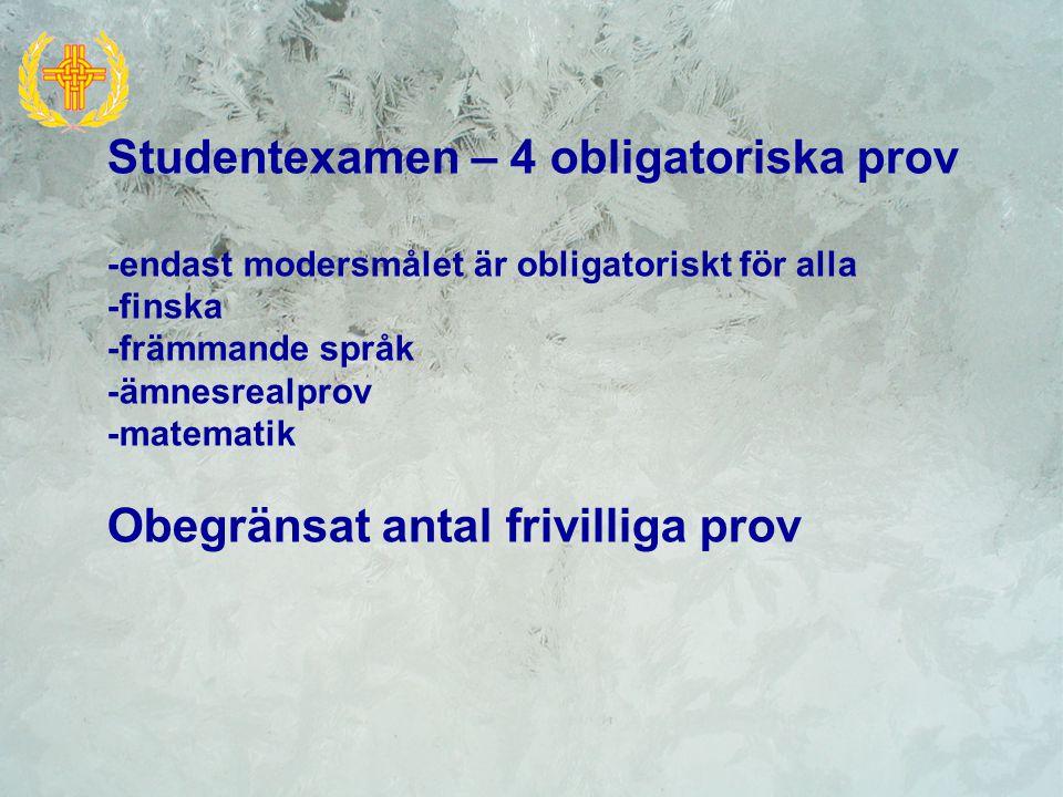 Lång och kort matematik, fysik Finska på tre nivåer – A-, B- nivå och MOFI Tyska, franska och spanska som B2- och B3- språk Att välja...