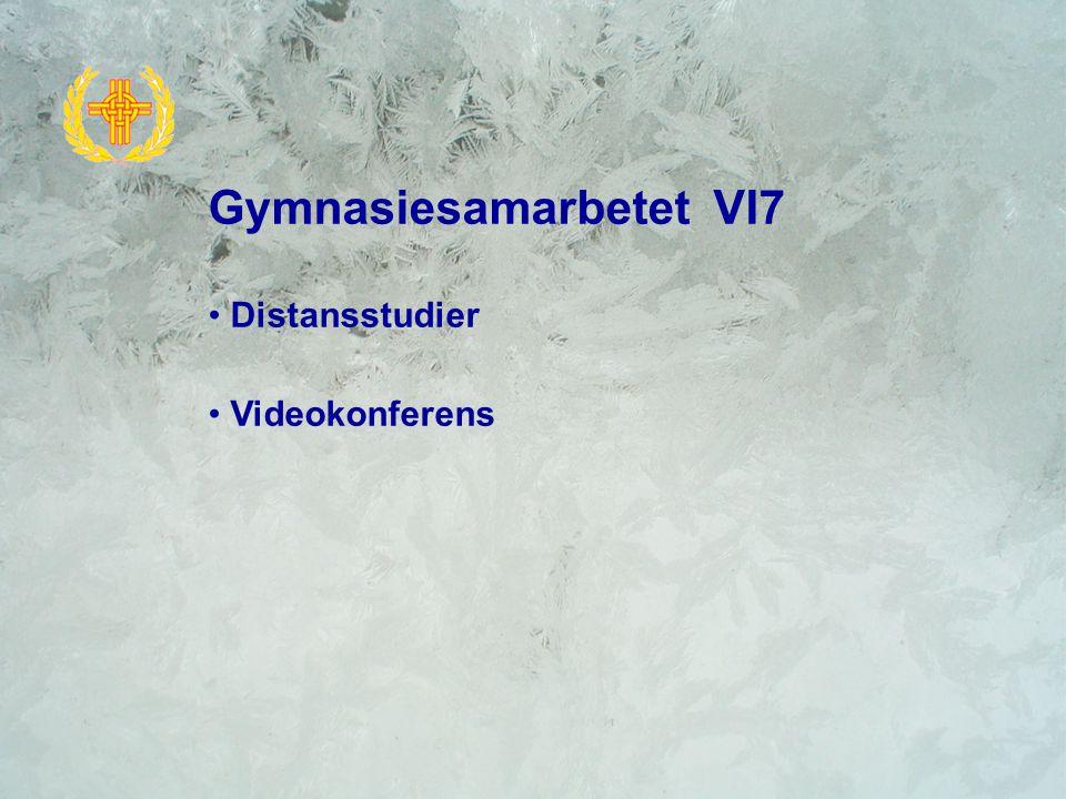 Gymnasiesamarbetet VI7 Distansstudier Videokonferens
