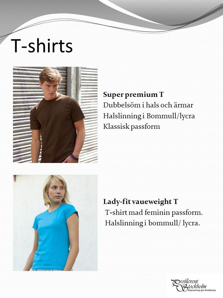 Lady-fit crew neck T Figursydd damtopp.Bommull/elastan för maximal komfort och passform.