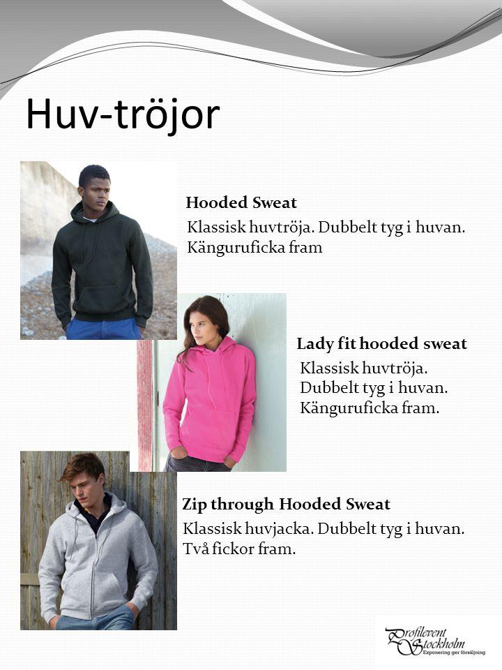 Huv-tröjor Hooded Sweat Klassisk huvtröja. Dubbelt tyg i huvan.