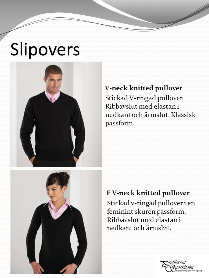 Slipovers V-neck knitted pullover Stickad V-ringad pullover.