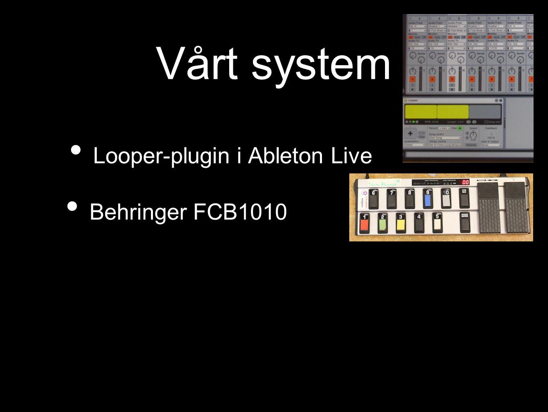 Vårt system Looper-plugin i Ableton Live Behringer FCB1010