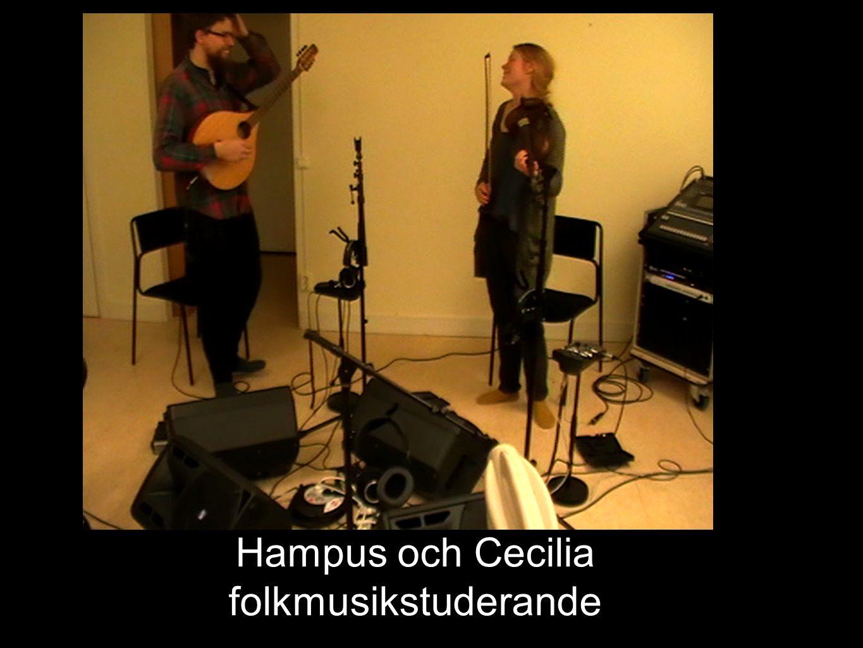 Hampus och Cecilia folkmusikstuderande