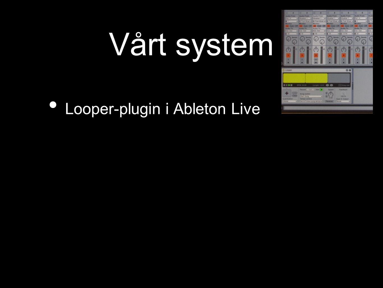 Vårt system Looper-plugin i Ableton Live