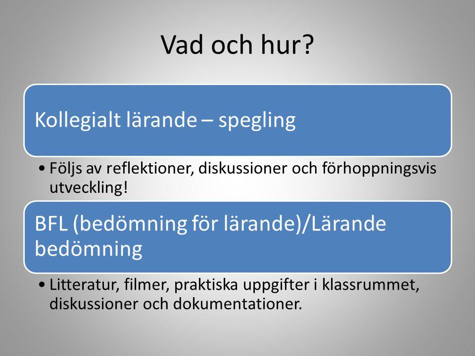 23/4 FÖRELÄSNING THE BIG 5 med Gustaf Granborg (ALLA) Alla träffas, som på kvällskonferensen i N11 Gustaf presenterar The Big Five mer ingående Diskussion och reflektion