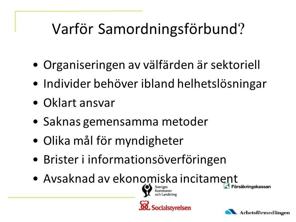 Varför Samordningsförbund .
