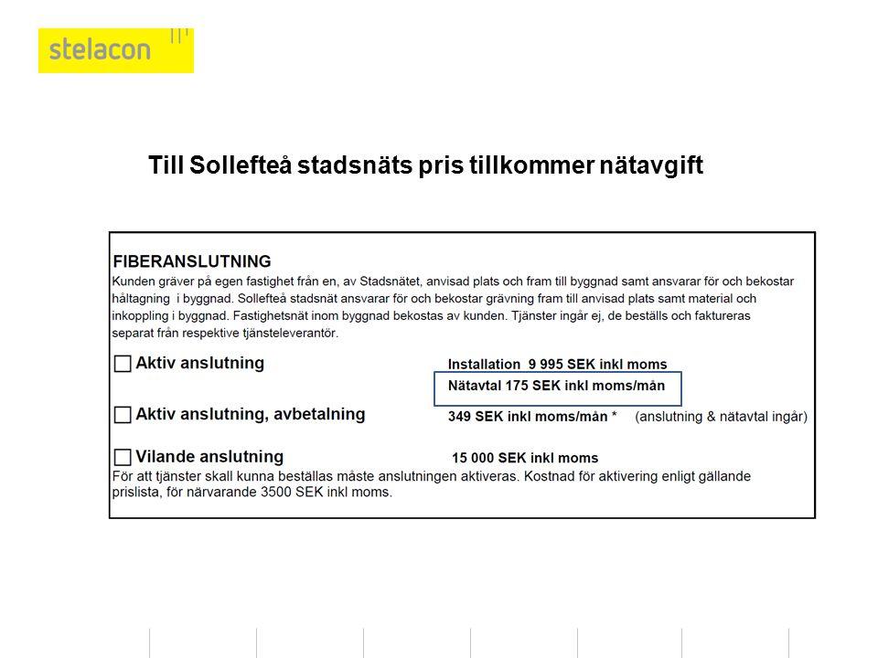 Efteranslutning uttrycks av Telia som ordinarie pris